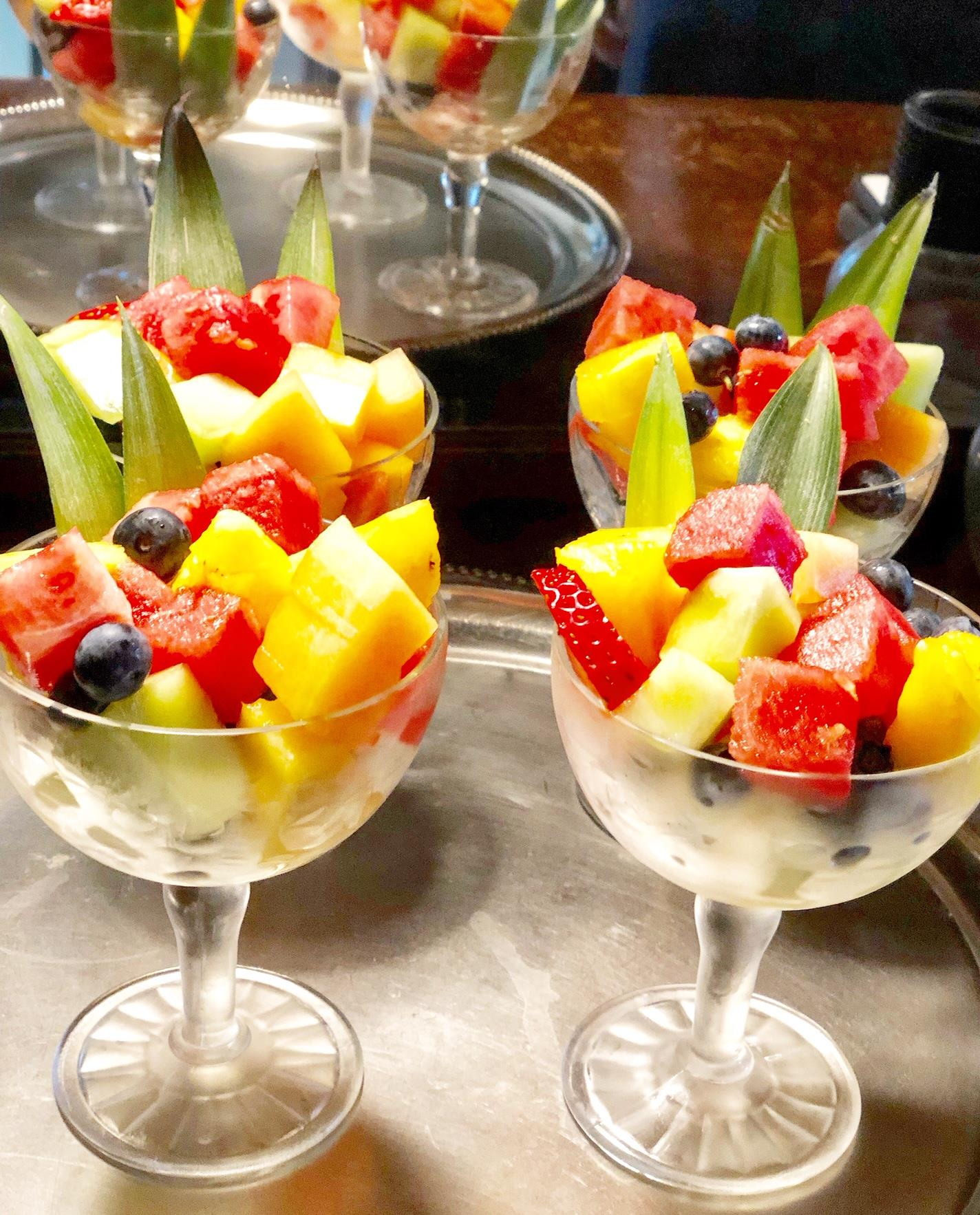 Fresh Fruit Salads at Felt Manor